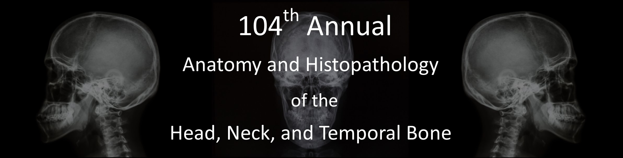 104th Annual Course on Anatomy & Histopathology of the Head, Neck & Temporal Bone Banner