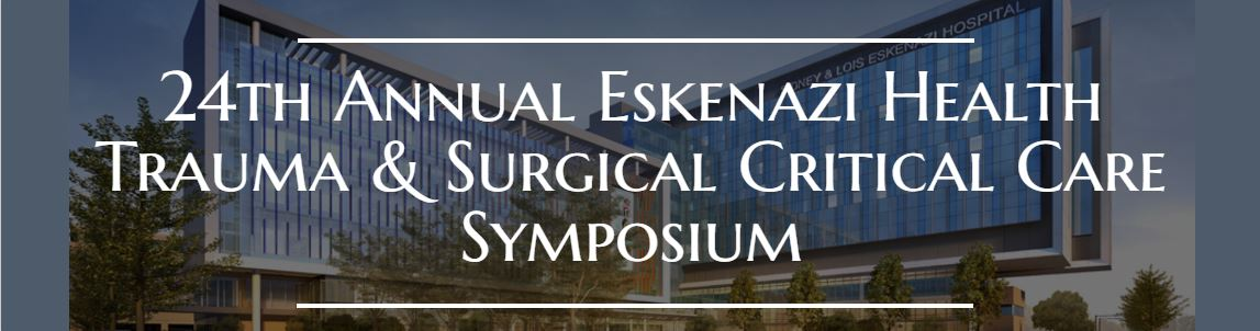 24th Annual Eskenazi Health Trauma and Surgical Critical Care Symposium Banner