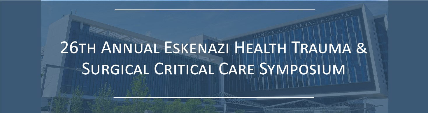 25th Annual Eskenazi Health Trauma and Surgical Critical Care Symposium Banner