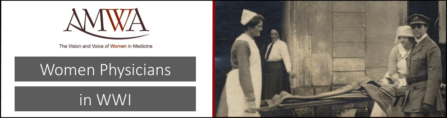 AMWA Women Physicians in WWI Banner