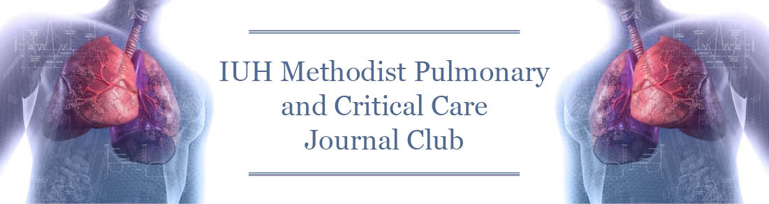 IU Health Methodist Pulmonary and Critical Care Journal Club Banner