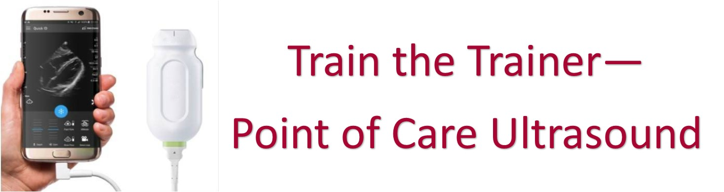 Train the Trainer Point of Care Ultrasound Banner