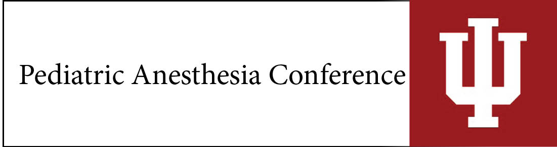 Pediatric Anesthesia Conference Banner